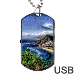 Tenerife 12 Effect Dog Tag USB Flash (One Side)