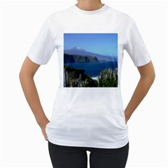 Panted Landscape Tenerife Women s T Shirt (white) (two Sided)