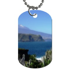 Panted Landscape Tenerife Dog Tag (One Side)
