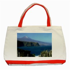 Panted Landscape Tenerife Classic Tote Bag (Red)