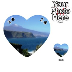 Panted Landscape Tenerife Playing Cards 54 (Heart)
