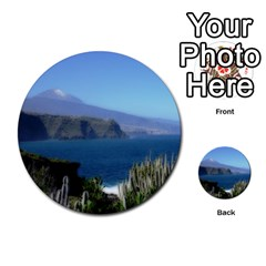 Panted Landscape Tenerife Multi-purpose Cards (Round)