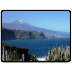 Panted Landscape Tenerife Fleece Blanket (large)
