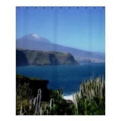 Panted Landscape Tenerife Shower Curtain 60  X 72  (medium)