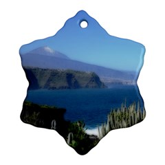 Panted Landscape Tenerife Ornament (Snowflake)