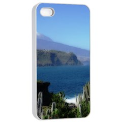 Panted Landscape Tenerife Apple Iphone 4/4s Seamless Case (white)