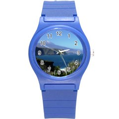 Panted Landscape Tenerife Round Plastic Sport Watch (S)