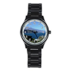 Panted Landscape Tenerife Stainless Steel Round Watches