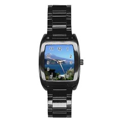 Panted Landscape Tenerife Stainless Steel Barrel Watch