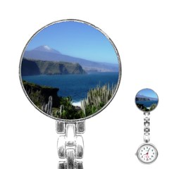 Panted Landscape Tenerife Stainless Steel Nurses Watches