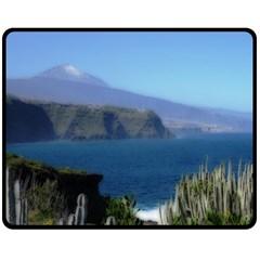 Panted Landscape Tenerife Double Sided Fleece Blanket (Medium)