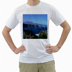 Panted Landscape Tenerife Men s T-Shirt (White)