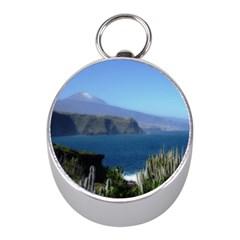 Panted Landscape Tenerife Mini Silver Compasses