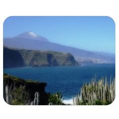 Panted Landscape Tenerife Double Sided Flano Blanket (Medium)