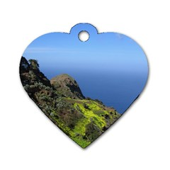 Tenerife 09 Dog Tag Heart (One Side)