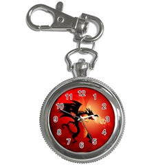 Funny, Cute Dragon With Fire Key Chain Watches