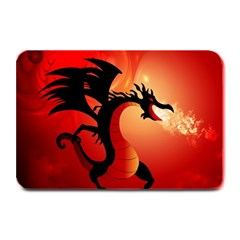 Funny, Cute Dragon With Fire Plate Mats