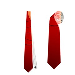 Funny, Cute Dragon With Fire Neckties (Two Side)
