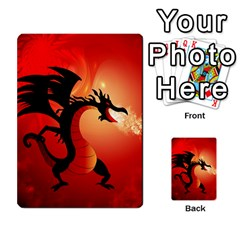 Funny, Cute Dragon With Fire Multi Purpose Cards (rectangle)