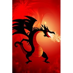 Funny, Cute Dragon With Fire 5.5  x 8.5  Notebooks