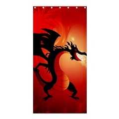 Funny, Cute Dragon With Fire Shower Curtain 36  X 72  (stall)