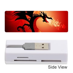 Funny, Cute Dragon With Fire Memory Card Reader (stick)