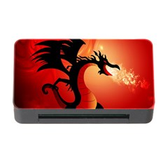 Funny, Cute Dragon With Fire Memory Card Reader with CF