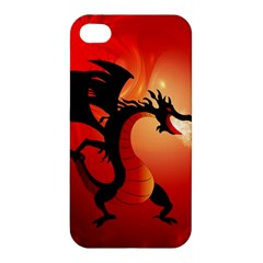 Funny, Cute Dragon With Fire Apple iPhone 4/4S Hardshell Case
