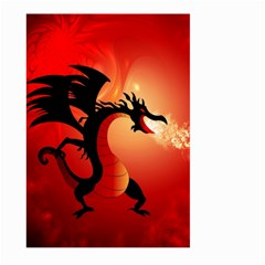 Funny, Cute Dragon With Fire Large Garden Flag (Two Sides)