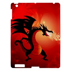 Funny, Cute Dragon With Fire Apple iPad 3/4 Hardshell Case