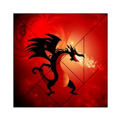 Funny, Cute Dragon With Fire Acrylic Tangram Puzzle (6  X 6 )