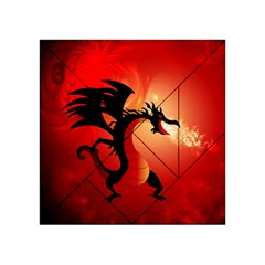 Funny, Cute Dragon With Fire Acrylic Tangram Puzzle (4  x 4 )
