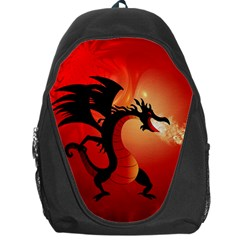 Funny, Cute Dragon With Fire Backpack Bag