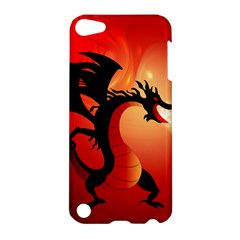 Funny, Cute Dragon With Fire Apple iPod Touch 5 Hardshell Case