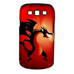 Funny, Cute Dragon With Fire Samsung Galaxy S III Classic Hardshell Case (PC+Silicone)