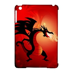 Funny, Cute Dragon With Fire Apple iPad Mini Hardshell Case (Compatible with Smart Cover)