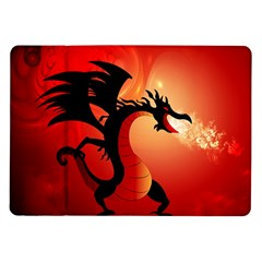 Funny, Cute Dragon With Fire Samsung Galaxy Tab 10.1  P7500 Flip Case