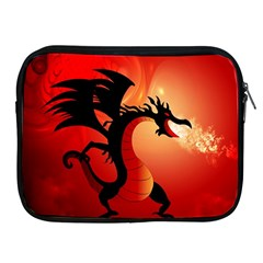 Funny, Cute Dragon With Fire Apple iPad 2/3/4 Zipper Cases