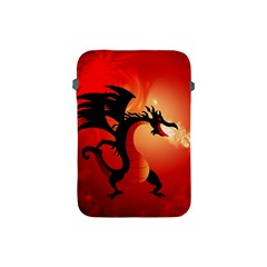 Funny, Cute Dragon With Fire Apple iPad Mini Protective Soft Cases