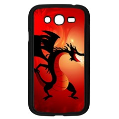 Funny, Cute Dragon With Fire Samsung Galaxy Grand DUOS I9082 Case (Black)