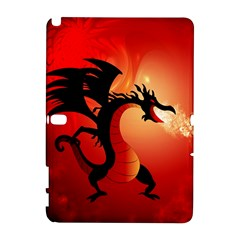 Funny, Cute Dragon With Fire Samsung Galaxy Note 10.1 (P600) Hardshell Case