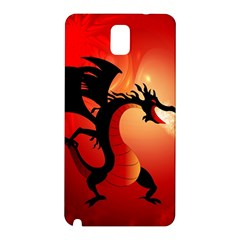 Funny, Cute Dragon With Fire Samsung Galaxy Note 3 N9005 Hardshell Back Case