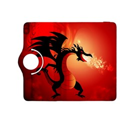 Funny, Cute Dragon With Fire Kindle Fire HDX 8.9  Flip 360 Case