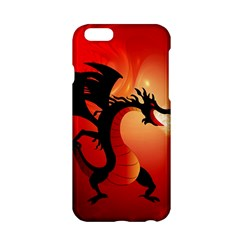 Funny, Cute Dragon With Fire Apple iPhone 6/6S Hardshell Case