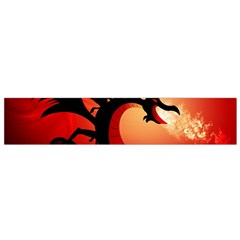 Funny, Cute Dragon With Fire Flano Scarf (small)