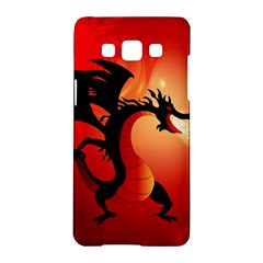Funny, Cute Dragon With Fire Samsung Galaxy A5 Hardshell Case