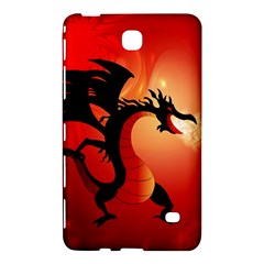 Funny, Cute Dragon With Fire Samsung Galaxy Tab 4 (8 ) Hardshell Case