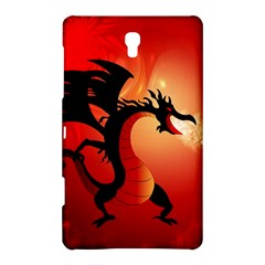 Funny, Cute Dragon With Fire Samsung Galaxy Tab S (8 4 ) Hardshell Case