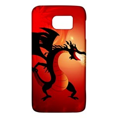 Funny, Cute Dragon With Fire Galaxy S6