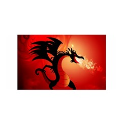Funny, Cute Dragon With Fire Satin Wrap